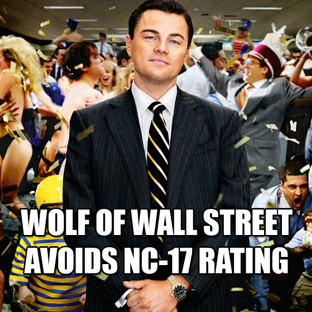 wolf of wall street edited to avoid nc17 rating