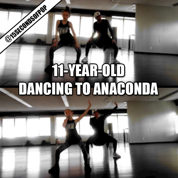11-Year-Old Dancing To Anaconda Viral Video
