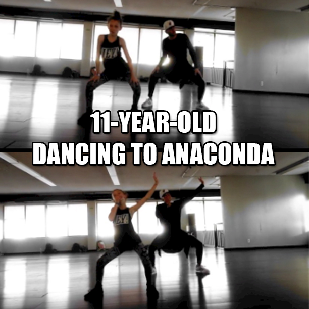 11-Year-Old Dancing To Anaconda Viral Video1