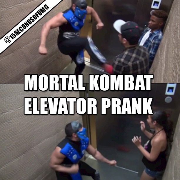 Viral Video- Mortal Kombat Elevator Prank