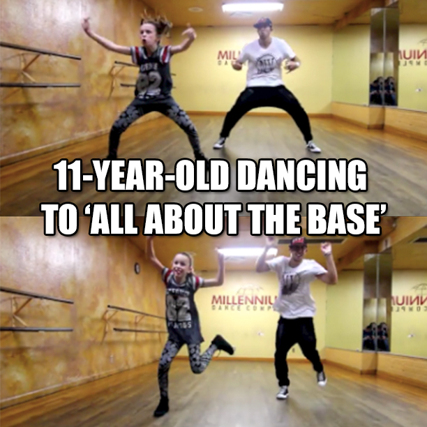 11-Year-Old Dancing To All About That Bass1