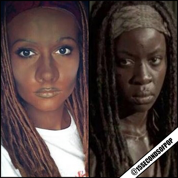 Makeup Artist Gets Harassed Online For Michonne Makeup Costume1